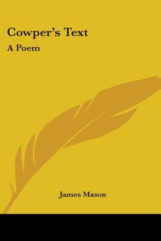 Cowper's Text: A Poem