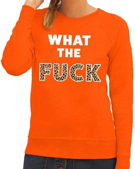 Tijgerprint Trui.Bol Com What The Fuck Tekst Sweater Oranje Dames Dames Trui What