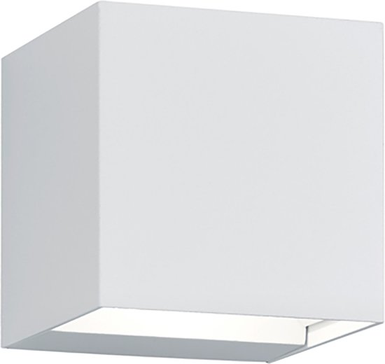 LED Tuinverlichting - Tuinlamp - Trion Adina - Wand - 6W - Warm Wit 3000K - Vierkant - Mat Wit - Aluminium - BSE