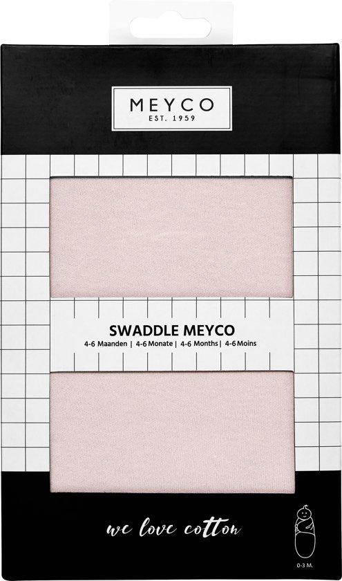 SwaddleMeyco Inbakerdoek - 4-6 maanden - Uni lichtroze