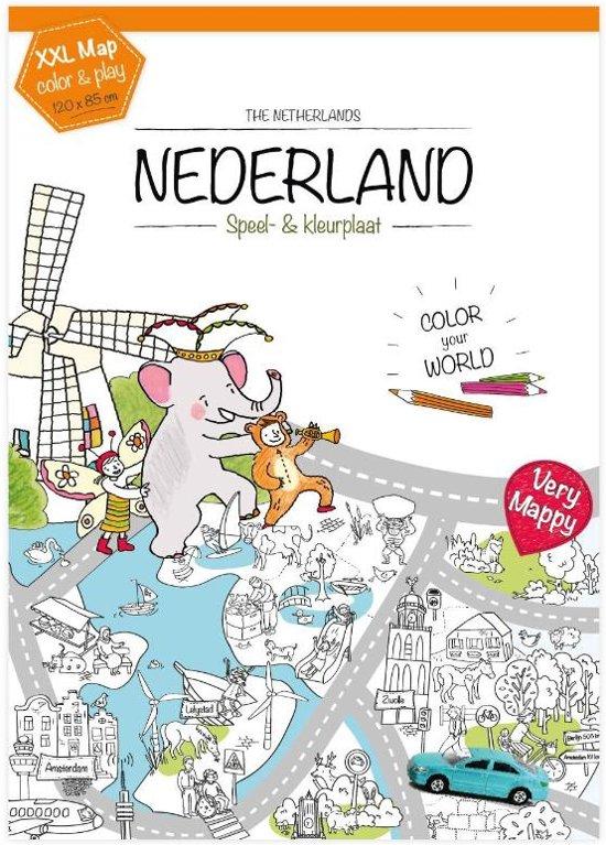 Bol Com Very Mappy Xxl Speel Kleurplaat Van Nederland Very