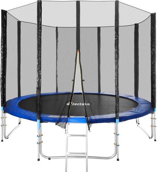 Trampoline outdoor tuintrampoline met veiligheids net en ladder 305 cm 10 ft 401332