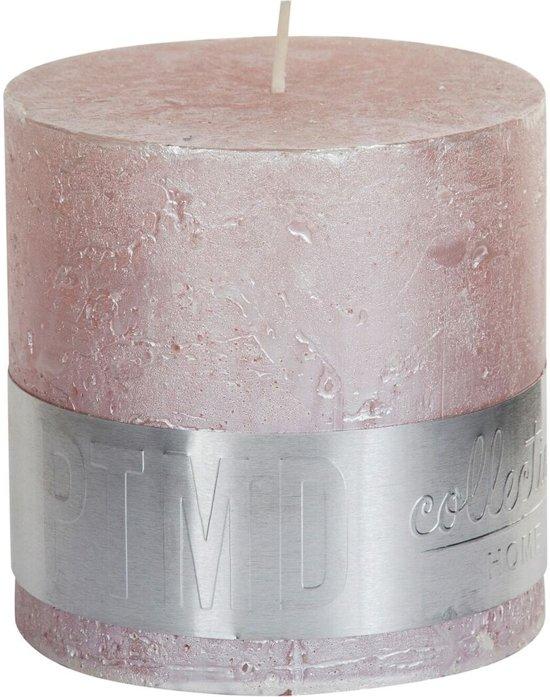 PTMD Kaars metallic pink 10x10cm