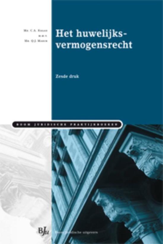 Boom Juridische praktijkboeken Het huwelijksvermogensrecht