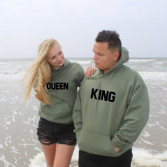 Setje hoodies king en queen IN DE MATEN S, M, L ,XL EN XXL