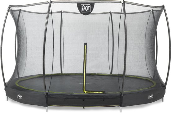 EXIT Silhouette Inground Trampoline à 427 cm met Veiligheidsnet