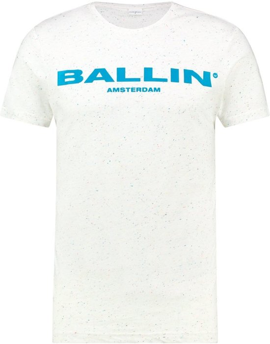 Ballin Amsterdam Mixed Logo T-shirt Off White Blue