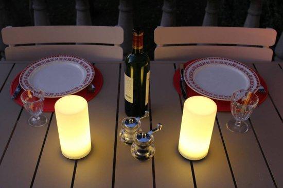 Bol.com lumisky cilinder tafellamp met witte led verlichting