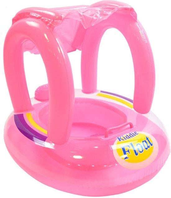 Kiddie Float Zwemtrainer - babyboot - opblaasboot baby - Zwemband baby - kraamcadeau - babyshower - (ROZE)