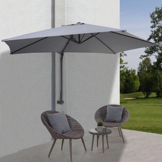 Parasol Voor Balkon.Bol Com Balkonparasol Parasol Muurparasol Grijs