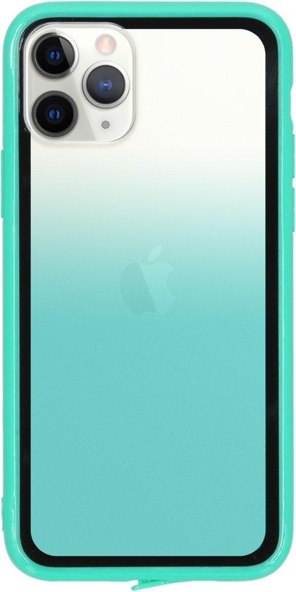 Gradient Backcover iPhone 11 Pro hoesje - Groen