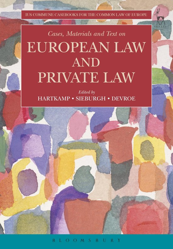 Boek cover Cases, Materials and Text on European Law and Private Law van  (Onbekend)
