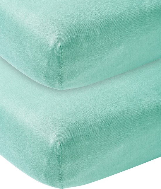 Meyco jersey hoeslaken 2-pack - 70x140/150 - new mint