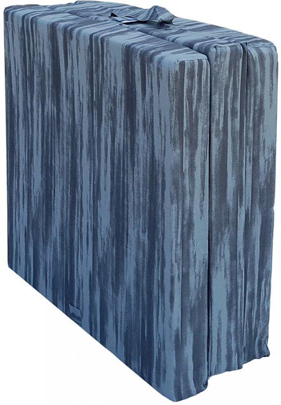 Inklapbaar Vouwmatras - opvouwmatras - 70x190x9 - Antraciet