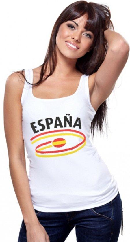 Spanje fan tanktop wit dames L