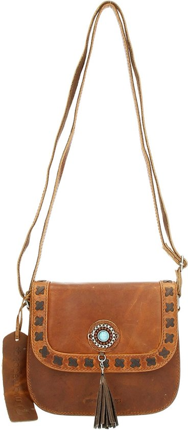Micmacbags Tribal - Overslagtas - Crossbody - Cognac