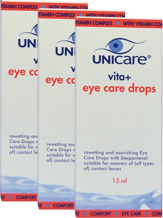 Unicare Vita+ Eye care drops oogdruppels - 3 x 15 ml - Voordeelverpakking