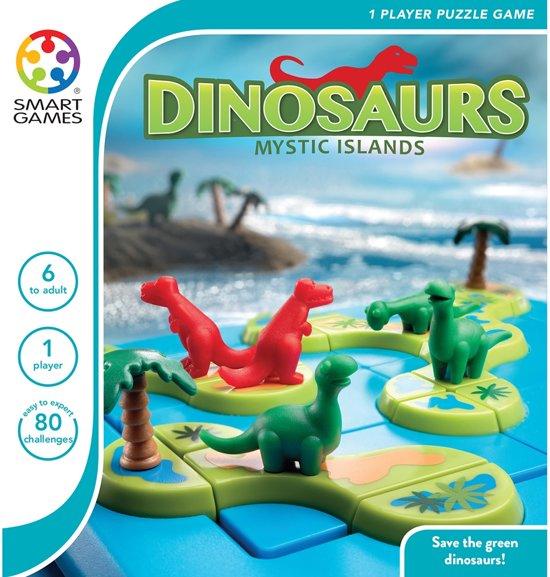 Thumbnail van een extra afbeelding van het spel Smart Games Dinosaurs Mystic Islands - 80 opdrachten
