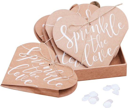 Confetti cones hart kraft (10 stuks) Valentinaa
