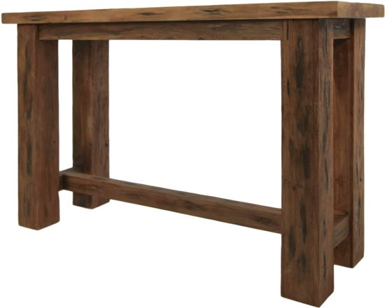 Welp bol.com | HSM Collection Sidetable - 120 cm - erosie - oud teak GH-55