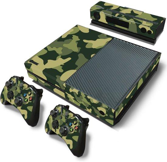 Army Camo / Groen Zwart - Xbox One Console Skins Stickers