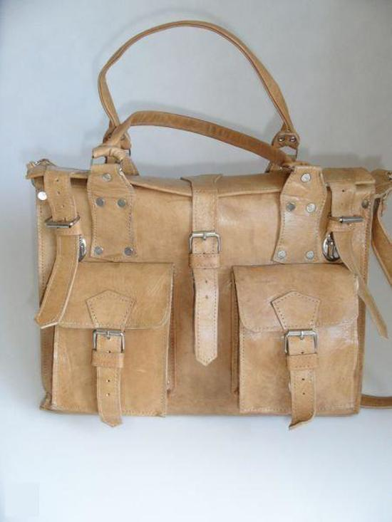 f46c466158c bol.com | Fairtrade handgemaakte leren tas kleur zwart 36cm-21cm ...