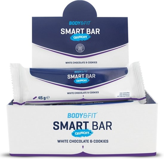 Body & Fit Smart Bars Crunchy - Eiwitreep - 1 doos (12 eiwitrepen) - White Chocolate & Cookies