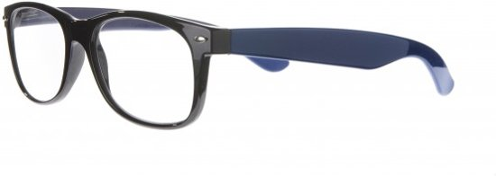 2ab91ab7aa187c Icon Eyewear NCE013 WayFarer Leesbril +2.50 - Glanzend zwart