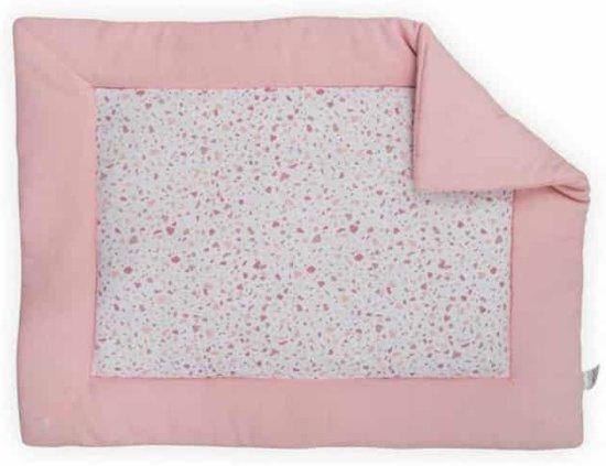 Boxkleed 80x100cm Tiny waffle soft pink