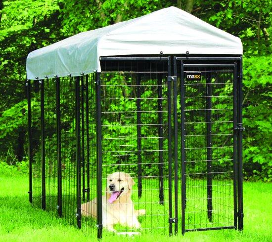 MaxxPet Hondenkennel - Dierenverblijf - afneembaar dak - 2,4 x 1,2 x 1,8m - hondenkooi