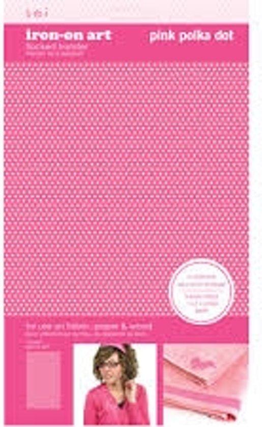 Strijksjabloon Pink Polka Dot 1 Vel