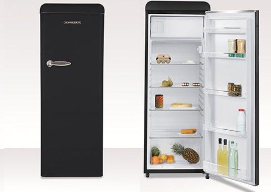 Schneider SCL 222 Retro - Kastmodel koelkast - Mat Zwart