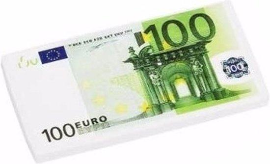 grote 100 euro biljet gum 13 x 7 cm. Black Bedroom Furniture Sets. Home Design Ideas