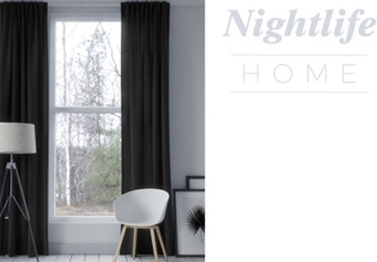 bol.com | Nightlife Home Gordijn Haken Antraciet