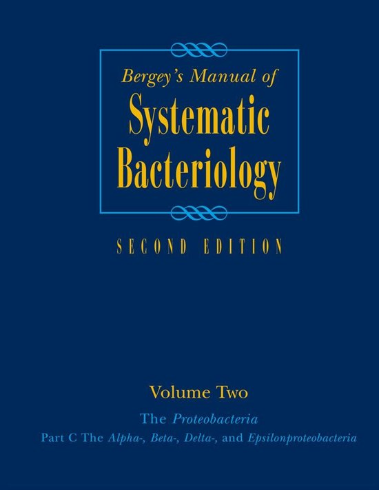 Bergey's Manual® of Systematic Bacteriology