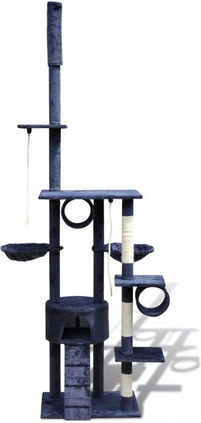 Krabpaal Tommie - 220/240 cm 1 huisje donker- Blauw