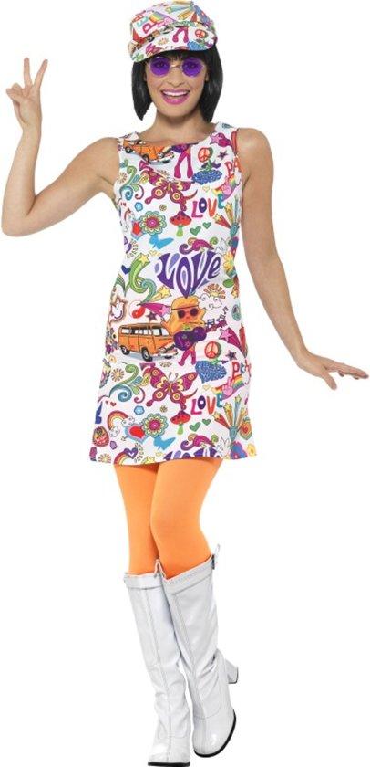 Cool jaren 60 hippie kostuum voor vrouwen - Verkleedkleding   maat S ( 36 / 38 )