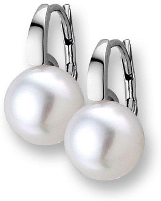 Trendjuwelier huiscollectie 4101682 Witgouden Parel oorbellen