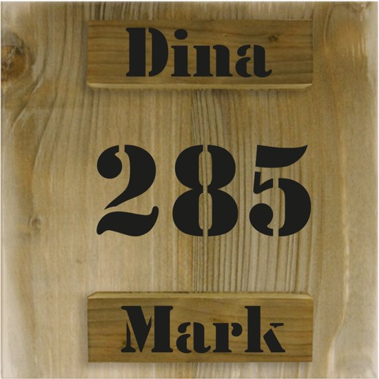 Uitzonderlijk bol.com | Naambordje voordeur steigerhout | 3D houten naambord 20x20 &SS63