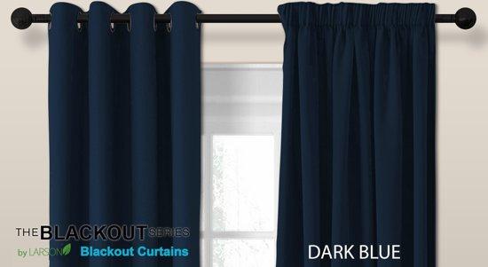 bol.com | Luxe blackout gordijn met ringen – donkerblauw 3x2.5m ...