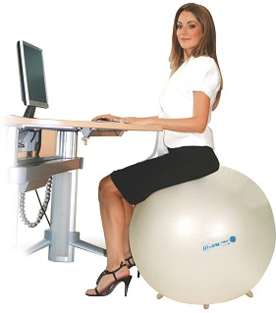 Gymnic Sit'n'Gym 55 BRQ - Zitbal - Parelmoer - Ø 55 cm