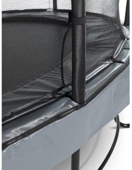 EXIT Elegant Premium trampoline ø366cm met veiligheidsnet Economy - grijs