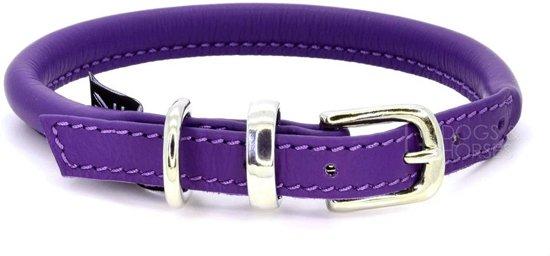 Dogs & Horses Lederen Halsband rond paars