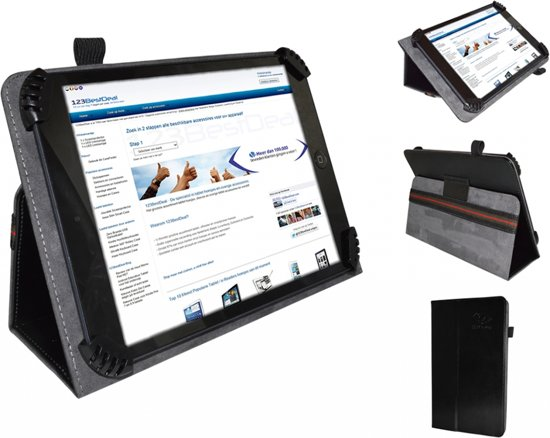Fold up hoesje voor Toshiba Encore Mini Wt7, wit , merk i12Cover in Wiekevorst