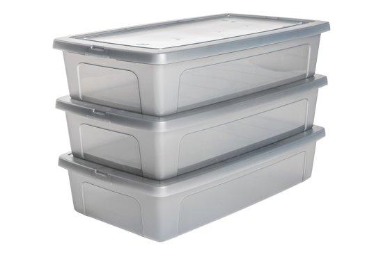 bol | iris clearbox onder-het-bed opbergbox - 30 l - kunststof
