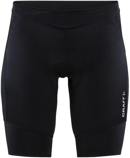 Craft Essence Shorts W Fietsbroek - Dames - Maat XL - Zwart/Zilver