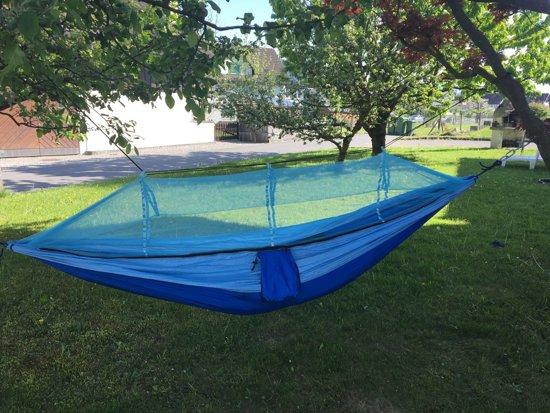 Hangmat met Muskietennet (Roze & Hemelsblauw)