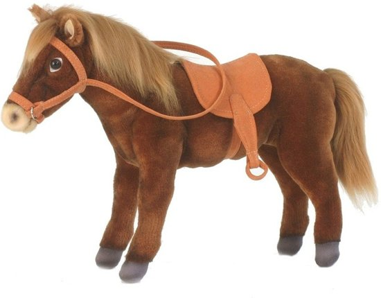 5af5d4a6fae2e1 bol.com | Hansa pluche paard met zadel knuffel 37 cm - knuffeldier ...