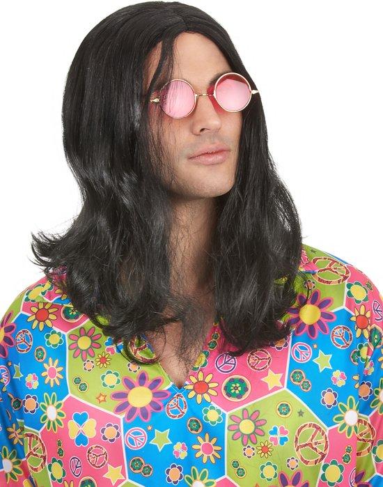 Hippiepruik voor mannen - Verkleedpruik