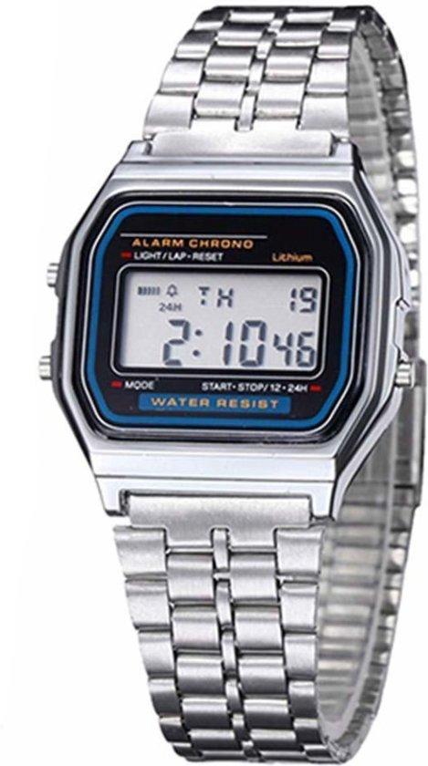 Fako Bijoux® Horloge Digital LCD Zilver
